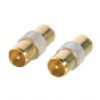 24k Gold Plated Male TV Aerial Adapter / Coupler